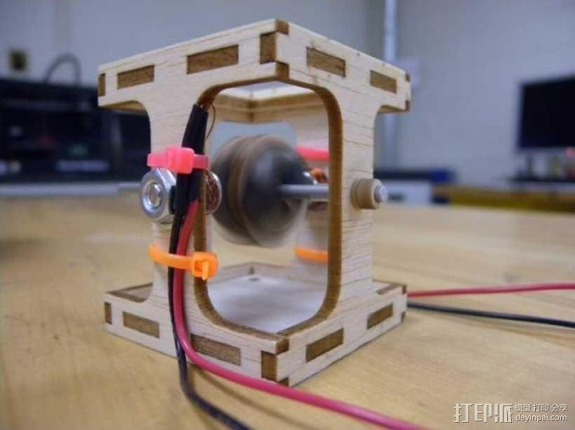 无刷直流马达 3D模型  图1