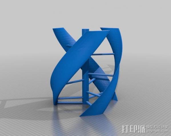 立式涡轮机 3D模型  图2