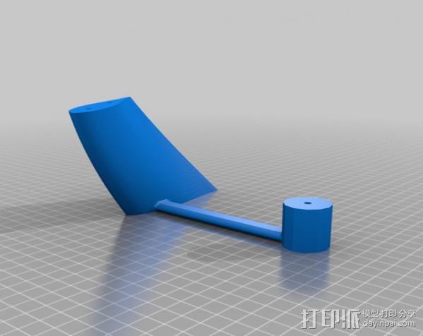 立式涡轮机 3D模型  图6