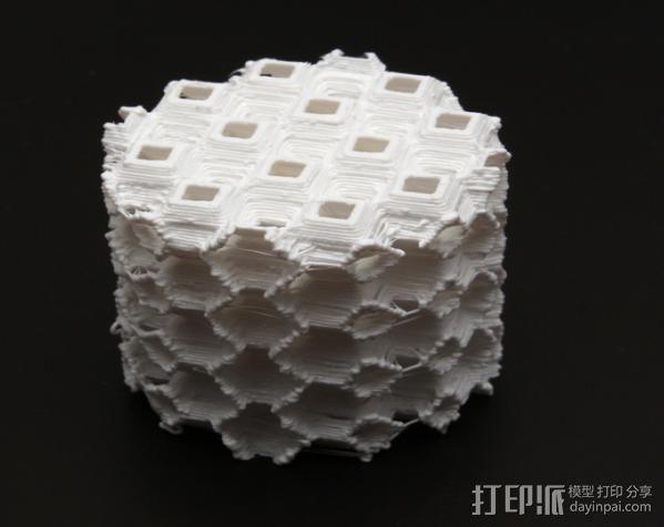 镂空圆柱体 3D模型  图4
