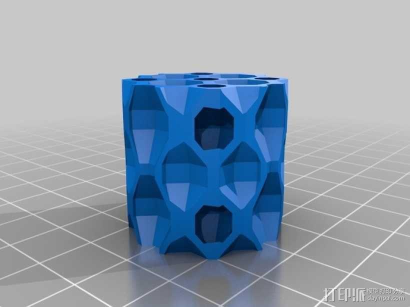 镂空圆柱体 3D模型  图7