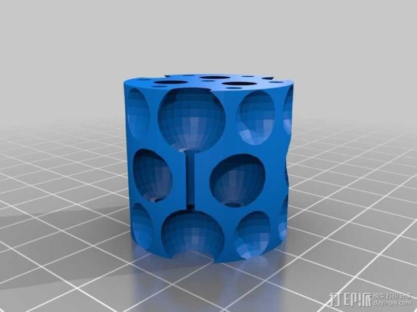 镂空圆柱体 3D模型  图8