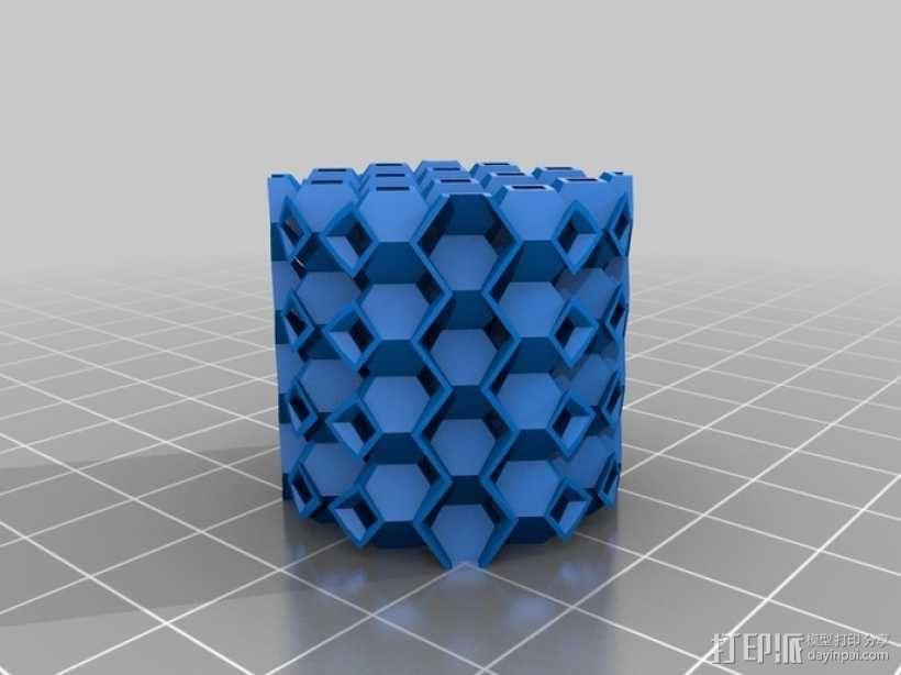 镂空圆柱体 3D模型  图9