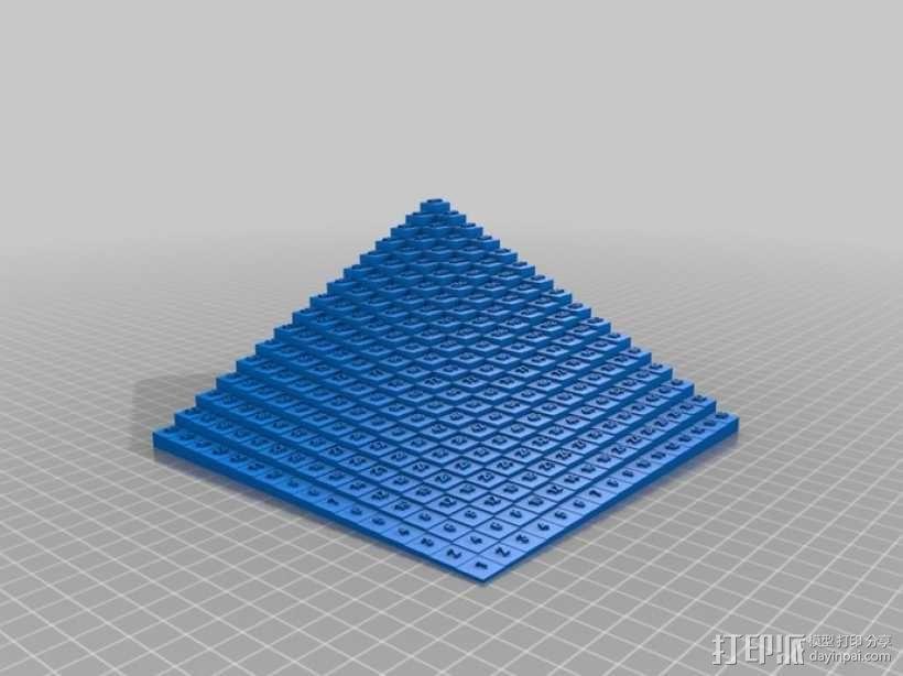 梯形乘法表 3D模型  图2