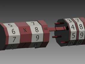 算数轴 3D模型