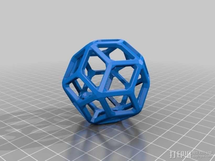 菱形三十面体 3D模型  图2