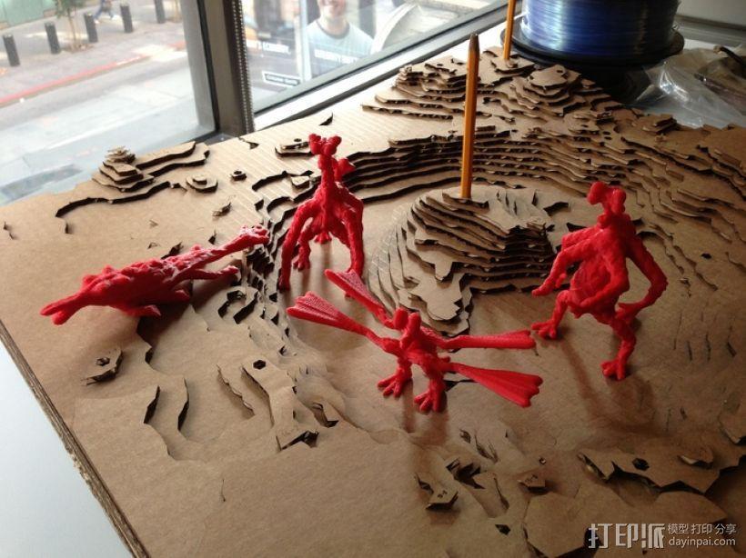 火星上的六足动物模型 3D模型  图1