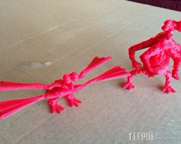 火星上的六足动物模型 3D模型  图8