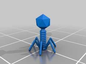T2 噬菌体病毒模型 3D模型