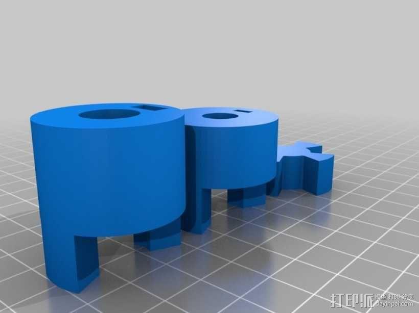 参数化联轴器 3D模型  图1