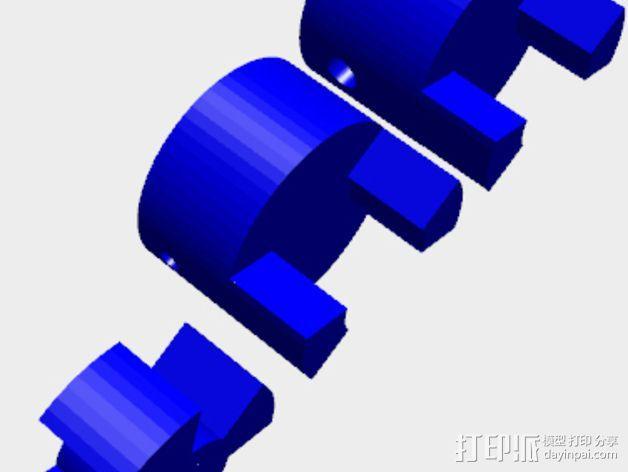 参数化联轴器 3D模型  图2