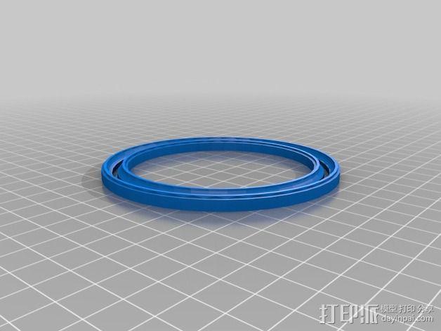 滚珠轴承 宠物圈 3D模型  图3