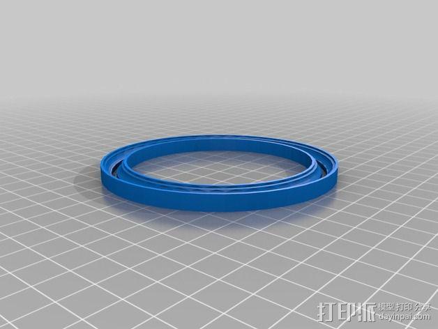 滚珠轴承 宠物圈 3D模型  图4