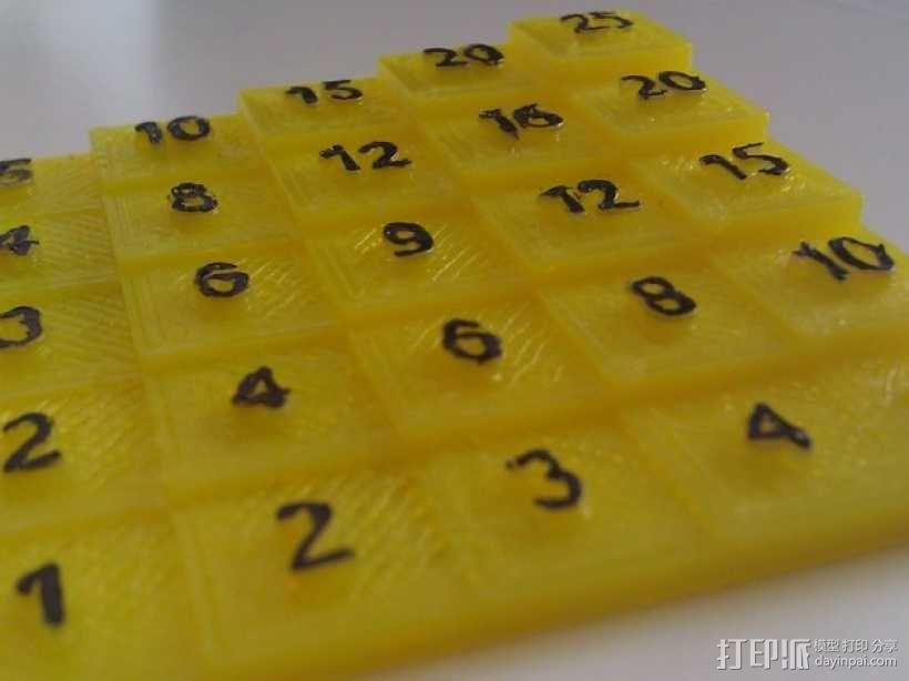 5x5乘法表 3D模型  图1