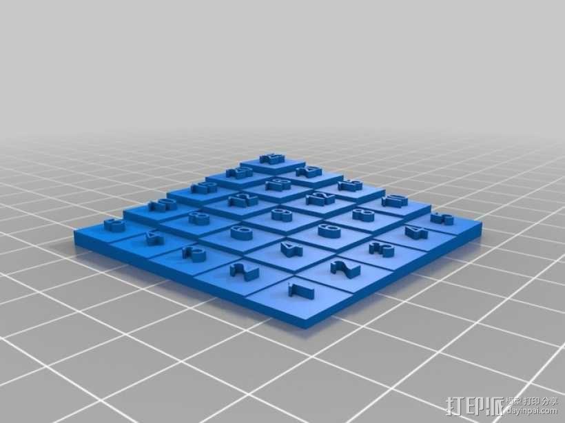5x5乘法表 3D模型  图2
