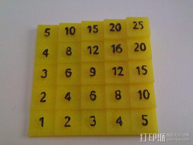 5x5乘法表 3D模型  图3