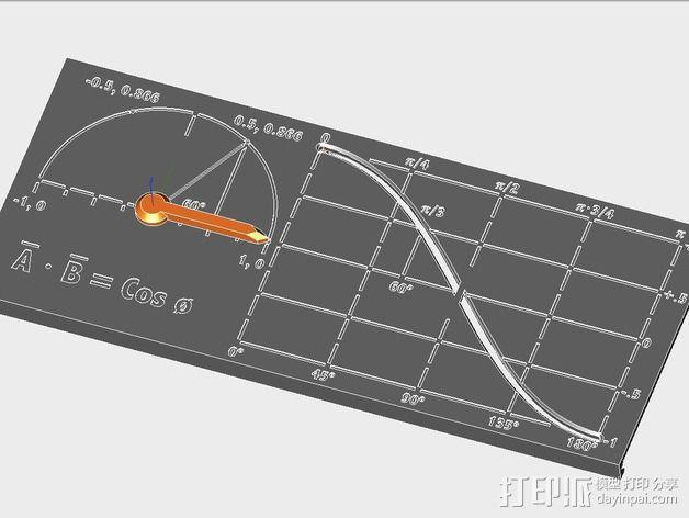 余弦函数 3D模型  图5