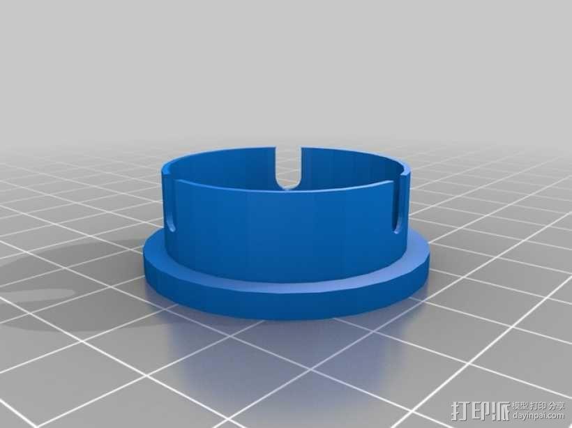 望远镜防尘帽 防尘盖 3D模型  图1