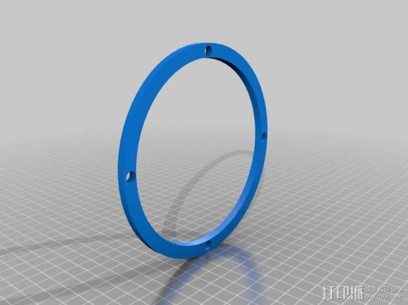 球形无土栽培器皿支撑架 3D模型  图3