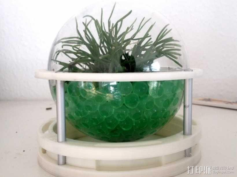 球形无土栽培器皿支撑架 3D模型  图1