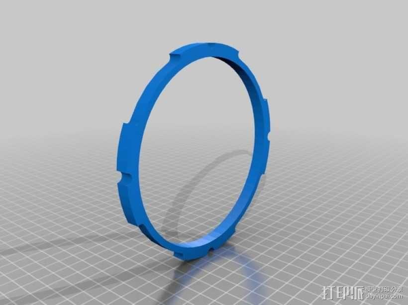 球形无土栽培器皿支撑架 3D模型  图4