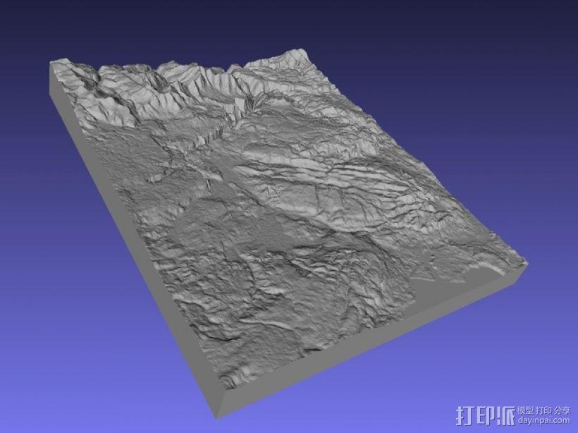 黄石公园地形图模型 3D模型  图1