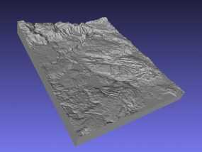 黄石公园地形图模型 3D模型