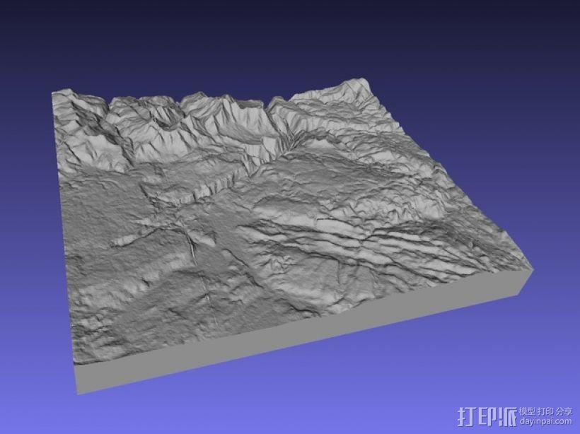 黄石公园地形图模型 3D模型  图4