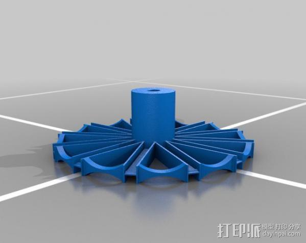 巴尔顿水轮 3D模型  图3