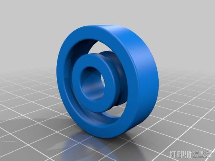 1.25 x .375滚珠轴承 3D模型  图1
