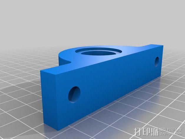 旋转编码器座架 固定夹 3D模型  图2
