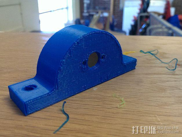 旋转编码器座架 固定夹 3D模型  图3