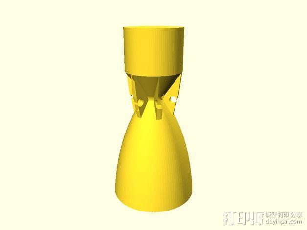 火箭喷管模型 3D模型  图2