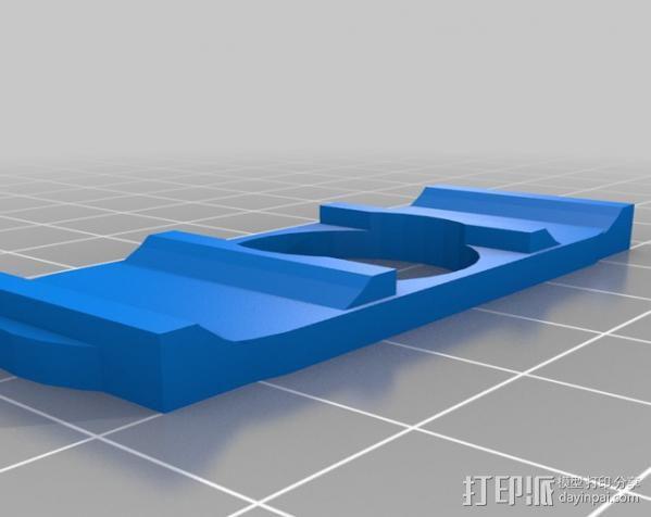 注射器法兰片 3D模型  图2