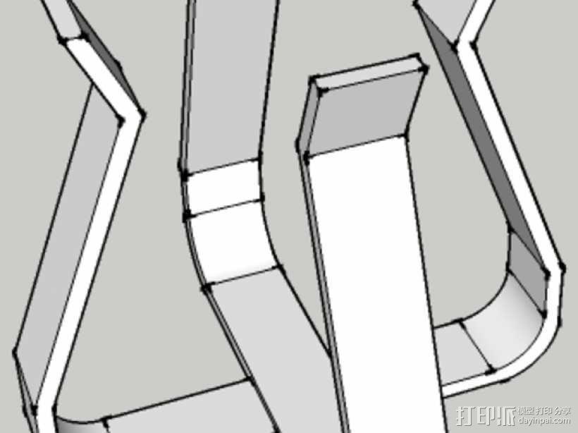 烧瓶架 3D模型  图2