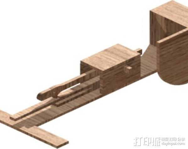 乒乓球发球器 3D模型  图2