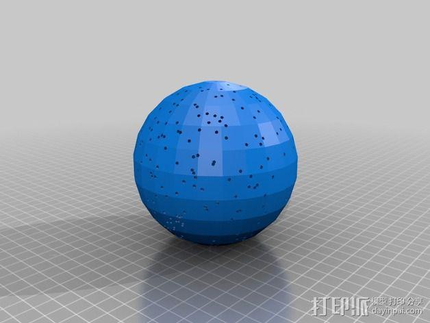 球形天体模型 3D模型  图1
