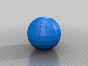 球形天体模型 3D模型