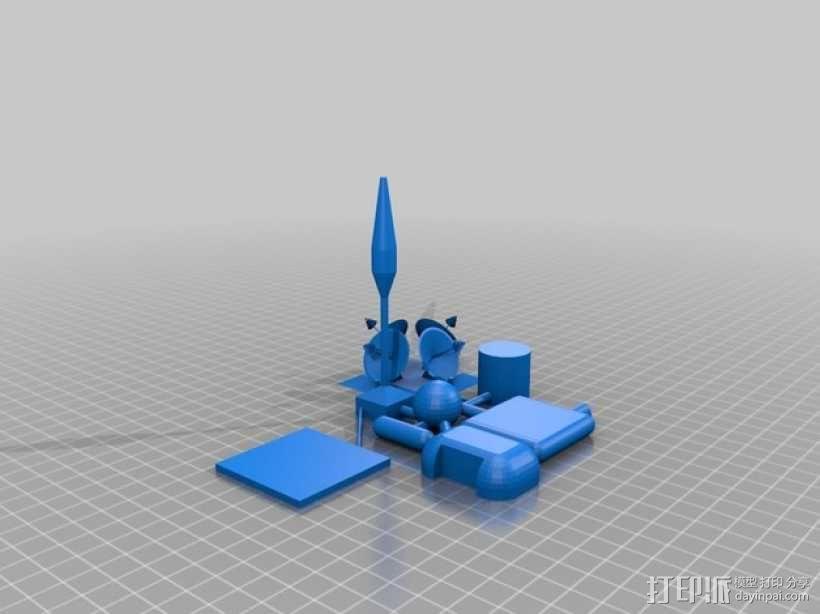 火星基地模型 3D模型  图1