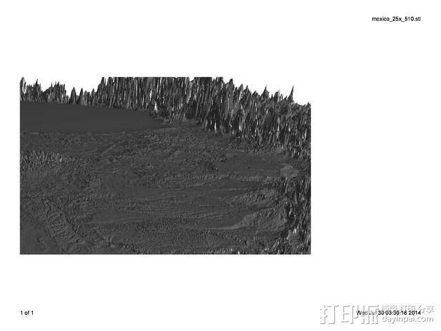 墨西哥地形图 3D模型  图3