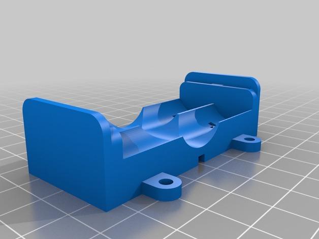AA电池 电池箱 3D模型  图2