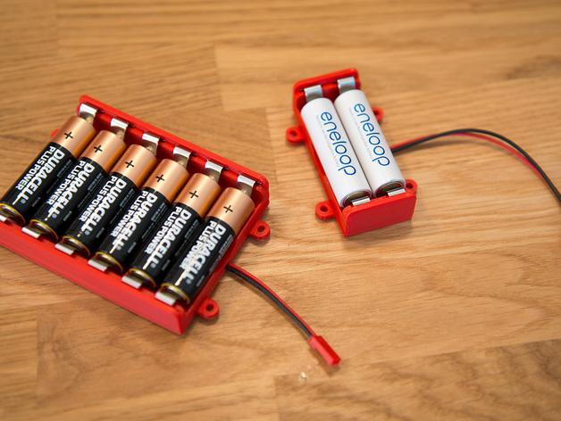 AA电池 电池箱 3D模型  图5
