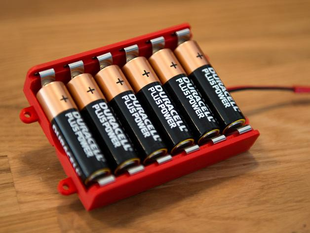 AA电池 电池箱 3D模型  图6