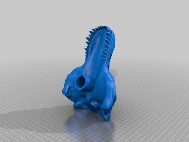 恐龙头自行车座垫 3D模型  图3