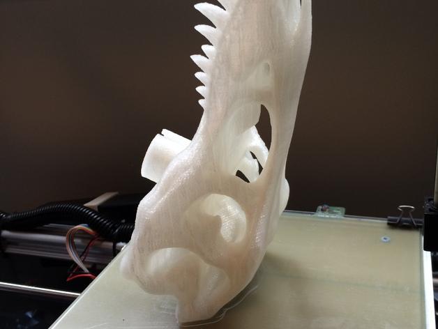 恐龙头自行车座垫 3D模型  图6