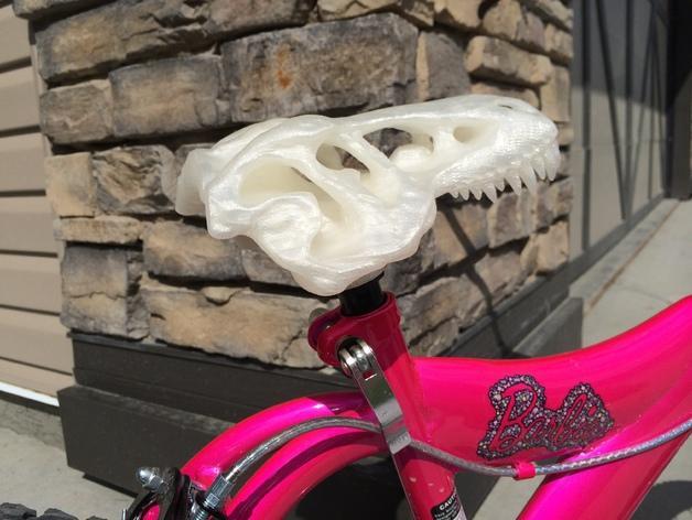 恐龙头自行车座垫 3D模型  图8