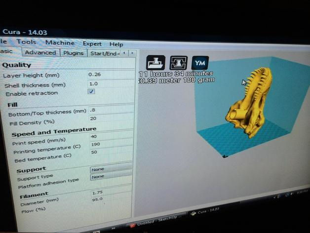 恐龙头自行车座垫 3D模型  图11