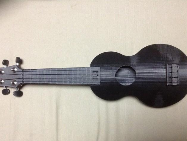 乌克丽丽四弦琴 3D模型  图3