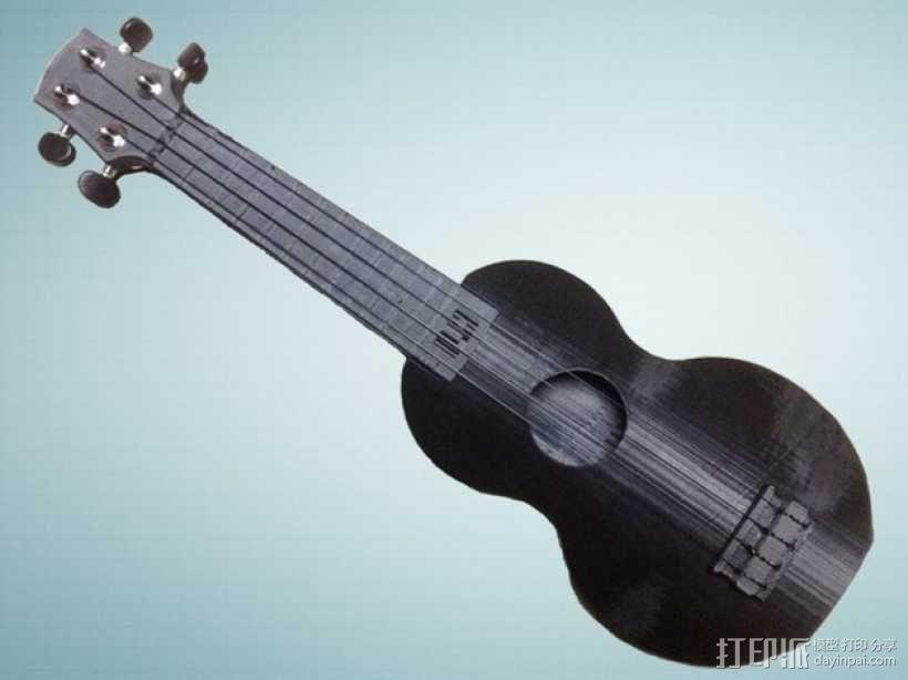 乌克丽丽四弦琴 3D模型  图1