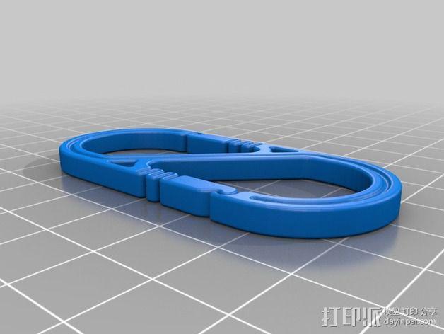 S形登山扣 3D模型  图2